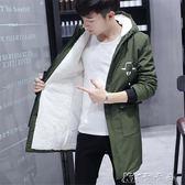 男士棉衣加絨加厚外套男韓版青年連帽棉衣男裝潮冬季棉襖 卡卡西