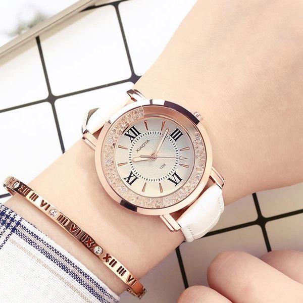 手錶 防水時尚韓版簡約休閒大氣潮流水?時裝石英女錶