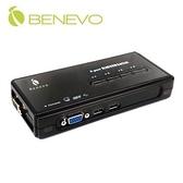 BENEVO BKVM104U UltraKVM桌上型 4埠USB VGA KVM多電腦切換器 (無支援音效)