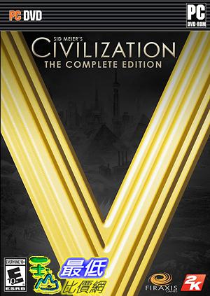 [7美國直購] 2018 amazon 亞馬遜暢銷軟體 Sid Meier's Civilization V: The Complete Edition PC