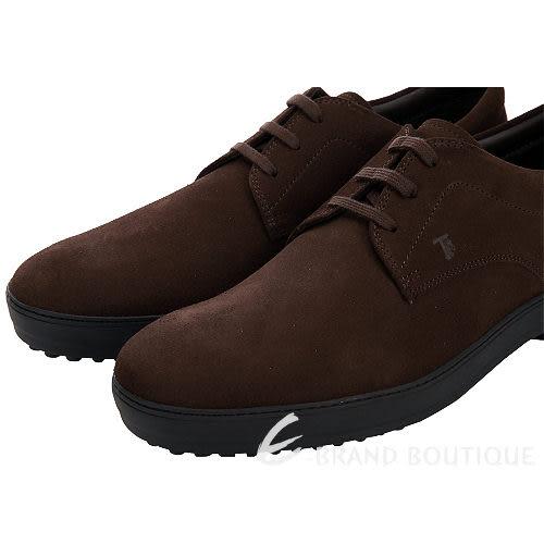 TOD'S 雪茄色麂皮綁帶休閒鞋(男) 1310409-07