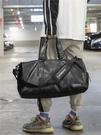 旅行包 獨立鞋位短途旅行包健身包潮女瑜伽運動訓練包男PU防水手提旅行袋 DF