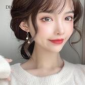 耳環 貓眼石耳環韓國氣質網紅耳墜2021新款純銀耳飾高級感耳夾無耳洞女