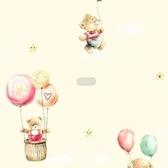 A160301 自黏式壁紙-氣球小熊