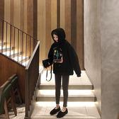 衛衣 2019秋冬新款卡通印花長袖連帽衛衣加絨加厚女中長款寬鬆外套上衣 曼慕衣櫃