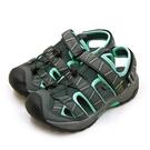 LIKA夢 LOTTO 專業排水護趾戶外運動涼鞋 森林之王系列 灰綠黑 1695 女