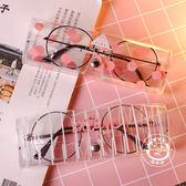 眼鏡盒創意可愛小清新便攜式塑料透明近視女款學生  一件免運