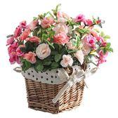 618好康鉅惠創意家居客廳裝飾品絹布玫瑰仿真花假花