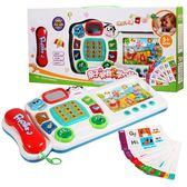 兒童早教益智電話機玩具智慧插卡點讀玩具多功能學習2-3歲學前班 七色堇