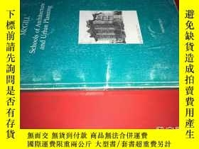 二手書博民逛書店THE罕見MCGILL SCHOOLS OF ARCHITECT