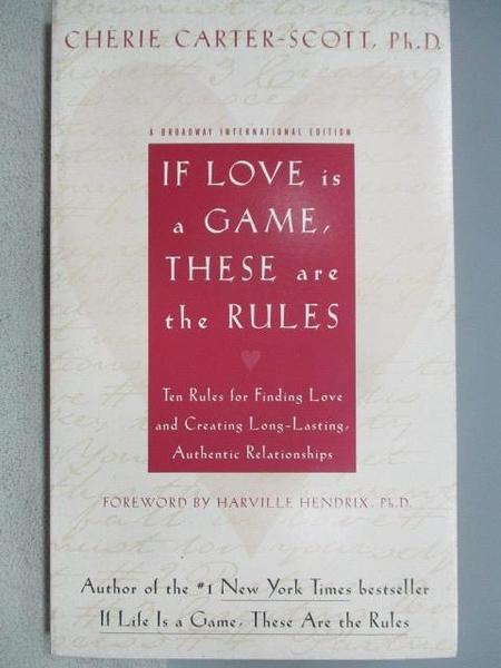 【書寶二手書T9/兩性關係_MQB】If Love Is a Game, These Are the Rules