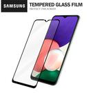 三星 A22 (5G) 彩色滿版全屏鋼化玻璃膜 全覆蓋鋼化膜 螢幕保護貼 防刮防爆
