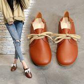 店長推薦 平底單鞋女小白鞋韓版系帶娃娃鞋2018新款學生軟面學生鞋舒適