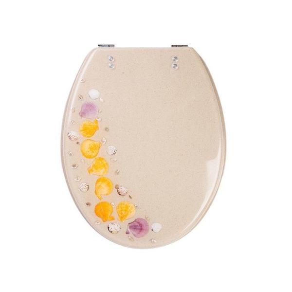馬桶蓋 樹脂馬桶蓋歐式UVO老式透明廁所板坐便家用通用加厚油壓緩降配件