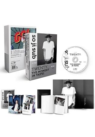 蘇志燮TWENTY:出道20年台灣專場粉絲會DVD 寫真冊 時光筆記本 海報 全