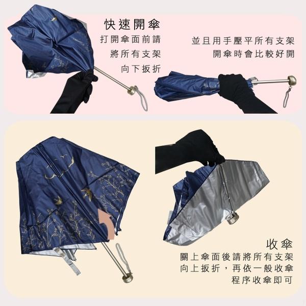 雨傘 陽傘 萊登傘 108克超輕傘 易攜 超輕三折傘 碳纖維 日式傘型 Leighton (草綠)