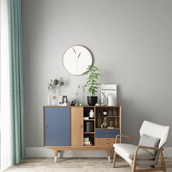 素色純色灰色北歐風格墻紙客廳臥室餐廳服裝店現代簡約壁紙 ins風