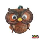 【收藏天地】台灣紀念品*手工皮雕貓頭鷹發聲小物 ∕吊飾 禮物 文創 可愛 小物