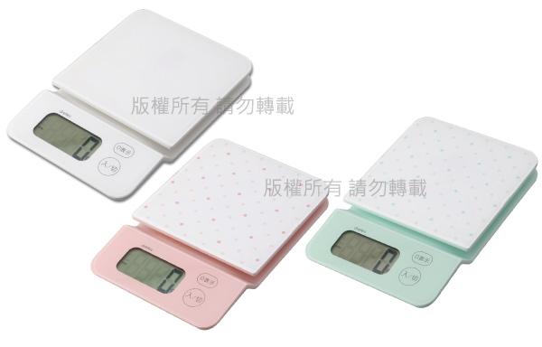 【dretec】「新水晶」觸碰式電子料理秤2kg-綠點點