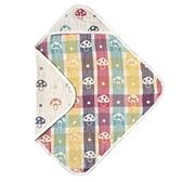 日本 Hoppetta 六層紗蘑菇嬰兒方形包巾