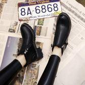 中筒靴35-40靴子馬丁靴女鞋中跟新品冬季全館免運正韓百搭粗跟女靴