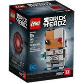 【LEGO 樂高積木】 Brickheadz積木人偶系列-Cyborg鋼骨 LT-41601