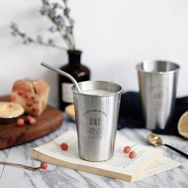 北歐風不鏽鋼水杯 304不鏽鋼 ONE 不鏽鋼杯 環保杯 咖啡杯 水杯 隨手杯 隨行杯【RS888】