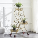 鐵藝花架多層可推拉移動帶輪花架客廳花盆架落地式綠蘿吊蘭花架子 - 風尚3C