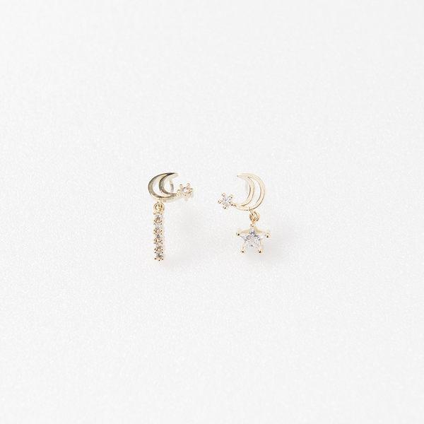 Queen Shop【07030499】星星月亮耳環*現+預*