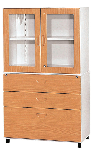605-4 鋼木牆櫃(3×5尺) W90×D48×H148公分