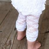 內搭褲 RuffleButts - 甜美公主荷葉邊內搭褲-蕾絲款/天使白 #RLKFU