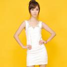 ※現貨 Billgo【Z422035】純色釘珠皺褶連身裙/洋裝 2色