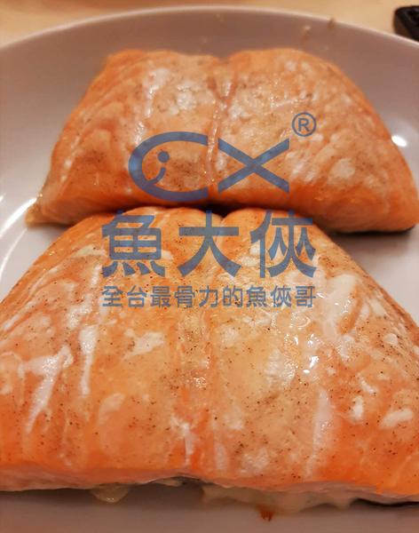 1E6B【魚大俠】FH251誠新嚴選鮭魚排(1kg±5%/包)無刺骨鱗#方形