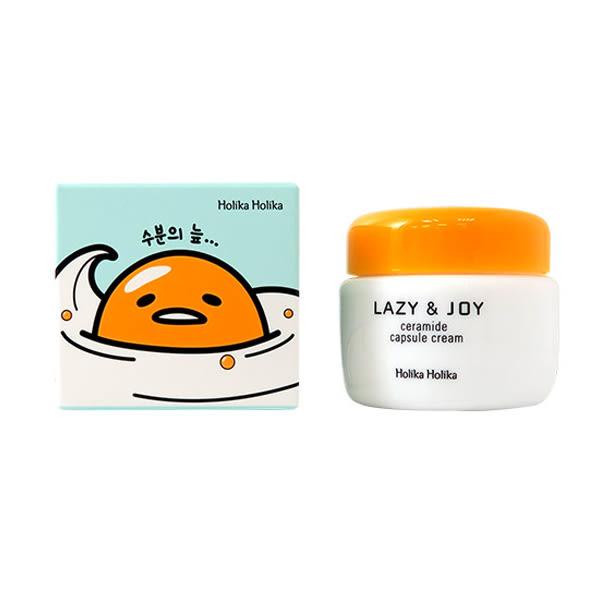 韓國 Holika Holika 蛋黃哥 Lazy&Joy 膠囊滋養面霜 50ml☆巴黎草莓☆