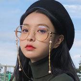 金屬平光鏡 復古圓形眼鏡框 眼鏡架文藝眼鏡【五巷六號】y251