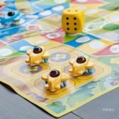 棋類 兒童超大號飛行棋棋類地毯小學生游戲棋牌益智玩具 大富翁跳跳棋【全館免運】
