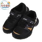《布布童鞋》asics亞瑟士LAZERBEAM金條黑色兒童機能運動鞋(16~22公分) [ J1R109D ]