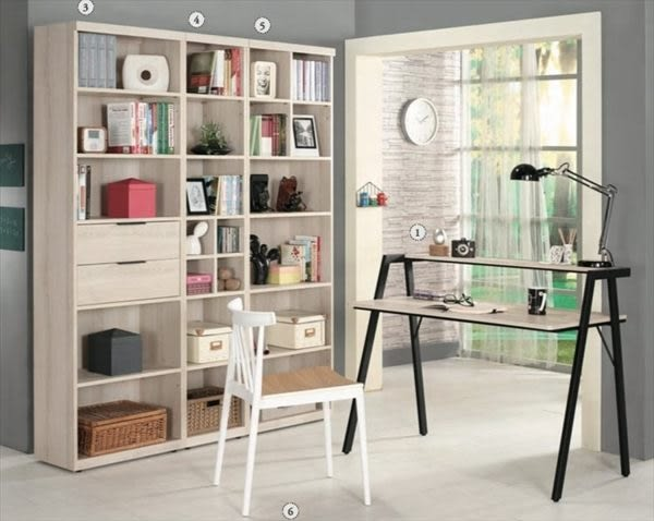 8號店鋪 森寶藝品傢俱 a-01 品味生活   書房系列 879-4 塔利斯1.3尺開放式書櫥(左2)