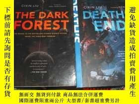 二手書博民逛書店劉慈欣著《三體》英文原版2冊合售:罕見The Dark Fore