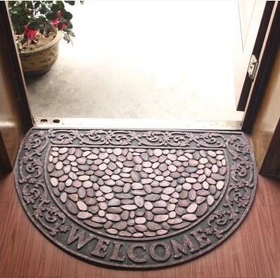 幸福居*高檔歐式入戶門廳地墊地毯蹭土 半圓形腳墊腳踏墊進門門墊(尺寸:60CM×90CM )