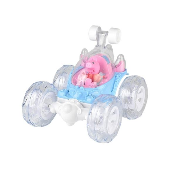 粉紅小豬翻滾特技車翻斗車遙控車汽車模充電動車兒童玩具交換禮物 滿498元88折立殺