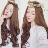 假髮女大波浪長捲髮自然逼真假髮正韓韓系女生修臉長髮蓬鬆髮套假頭髮 全館免運