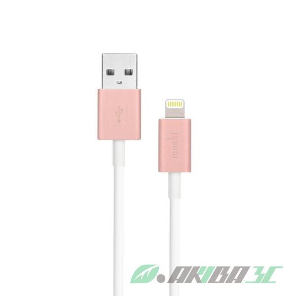 Moshi Lightning USB傳輸線 玫瑰金 Apple認證