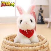 超萌可愛小白兔公仔毛絨玩具韓國仿真兔子小號娃娃女孩生日禮物【美物居家館】