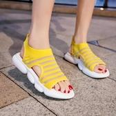 運動涼鞋女2020夏季新款休閒韓版時尚百搭網紅平底ins超火女鞋潮 黛尼時尚精品