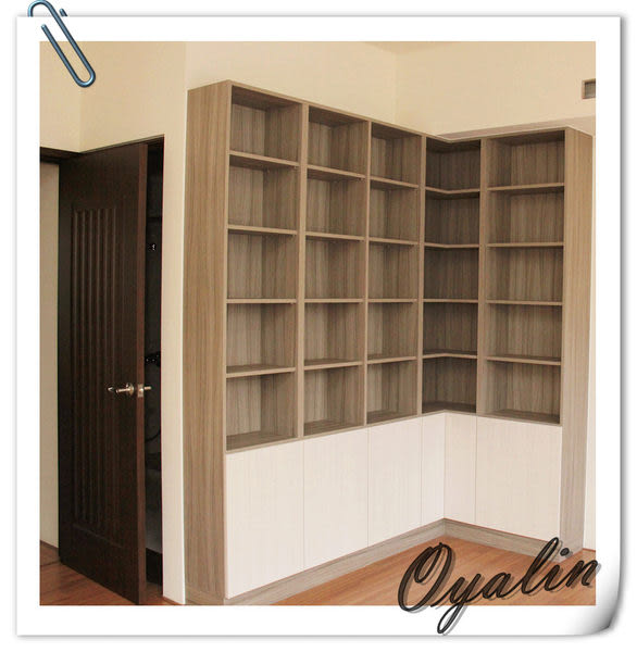 【歐雅系統家具】系統櫃 淡雅~系統書櫃 系統收納櫃 EGGER E1-V313防潮塑合板 客製化訂做