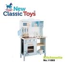 【荷蘭 New Classic Toys】聲光小主廚木製廚房玩具 (淺藍) 11065