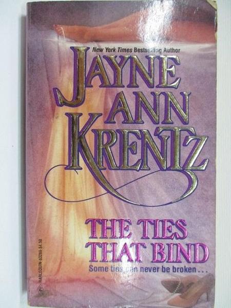 【書寶二手書T1/原文小說_BJ5】The Ties That Bind_Jayne Ann Krentz