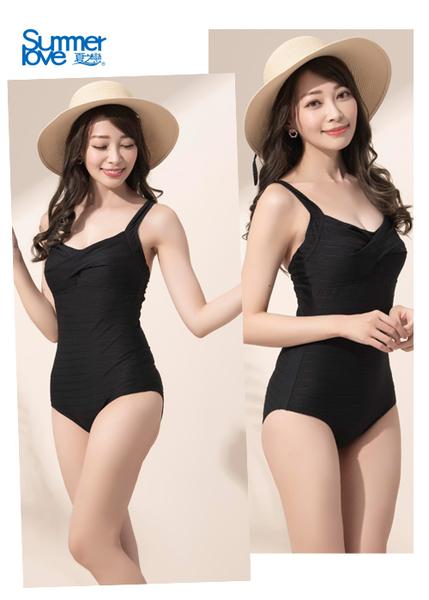 【Summer Love 夏之戀】高貴典雅連身三角泳衣(E16796)