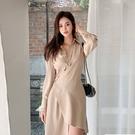 VK精品服飾 韓系不規則氣質遮肚收腰顯瘦...